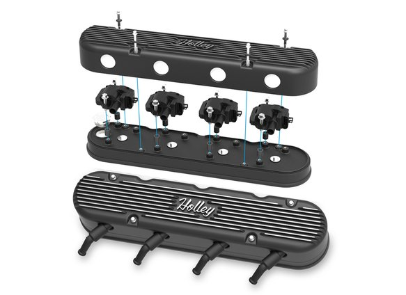 241-172 - 2-Pc LS Vintage Series Valve Covers – Satin Black Machined Finish - additional Image