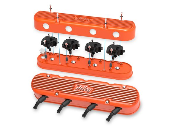 241-173 - 2-Pc LS Vintage Series Valve Covers – Factory Orange Machined Finish - additional Image