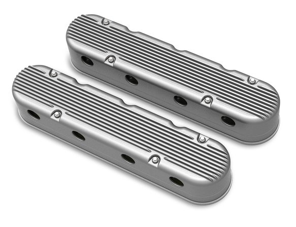 241-180 - 2-Pc LS Finned Valve Covers – Natural Finish Image