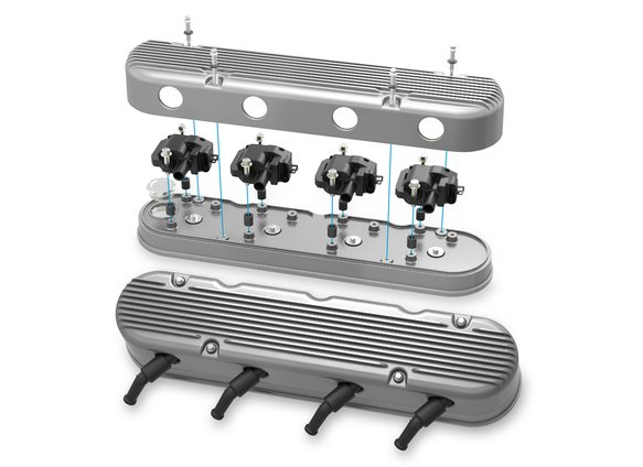 241-180 - 2-Pc LS Finned Valve Covers – Natural Finish - additional Image