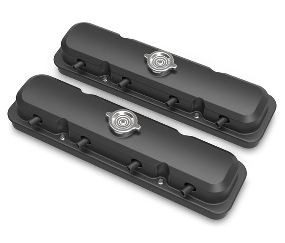 241-192 - 2-Pc LS Pontiac Style Valve Covers - Satin Black Finish Image