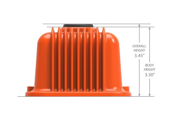 241-239 - Vintage Series Finned Valve Covers, with Emissions, SBC – Factory Orange Machined Finish - additional Image