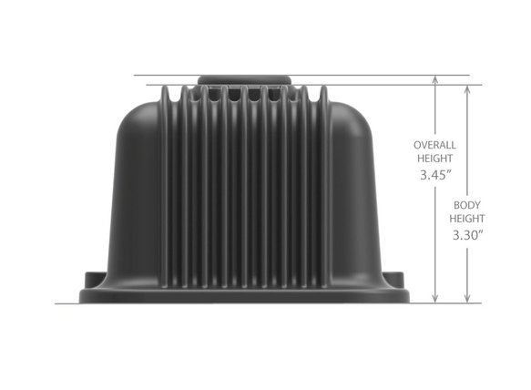 241-242 - SBC Vintage Series Finned Valve Covers - Satin Black Machined Finish - additional Image