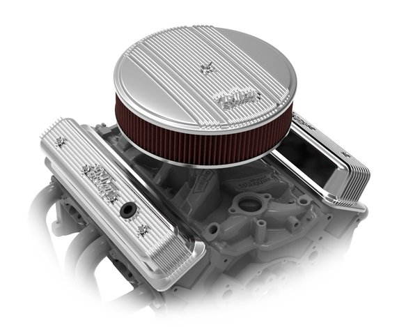 241-248 - Holley Finned Valve Covers for Small Block Chevy Engines - Polished - additional Image