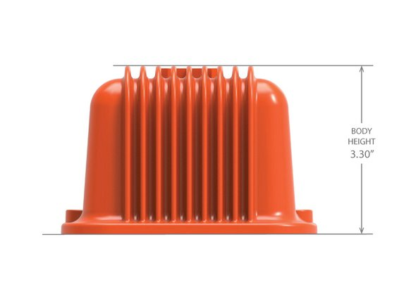 241-272 - Vintage Series Finned Valve Covers, Non-Emissions, SBC – Factory Orange Machined Finish - additional Image