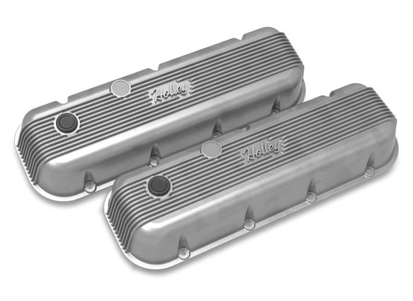 241-300 - BBC Vintage Series Finned Valve Covers – Natural Cast Finish Image