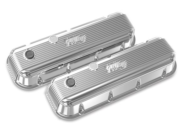 241-301 - BBC Vintage Series Finned Valve Covers – Polished Finish Image