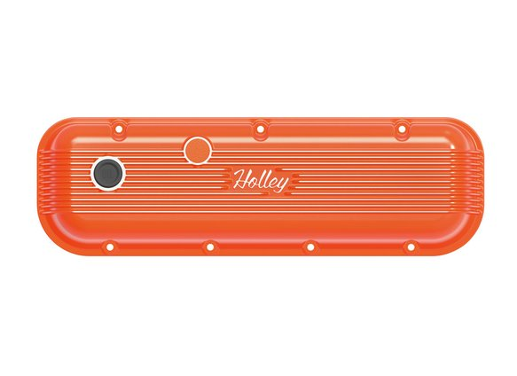 241-304 - BBC Vintage Series Finned Valve Covers – Factory Orange Machined Finish - additional Image