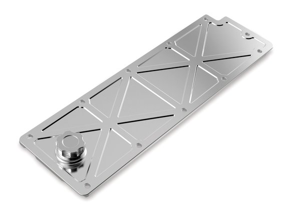 241-361 - Holley LS Valley Cover with Oil Fill - Polished Billet Image