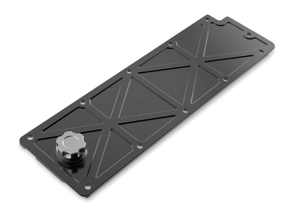 241-362 - Holley LS Valley Cover with Oil Fill - Black Billet Image