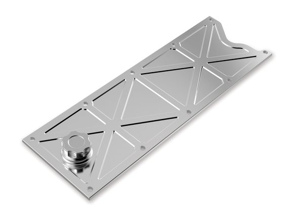 241-368 - Holley LS Valley Cover with Oil Fill - Polished Billet Image