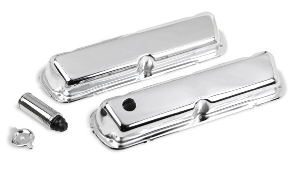 241-81 - Chrome valve covers for 1986-95 302-351W (5.0L-5.8L) small block Ford engines. Image