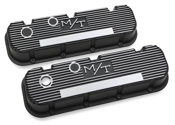 241-85 - M/T Valve Covers for Big Block Chevy Engines - Satin Black Image