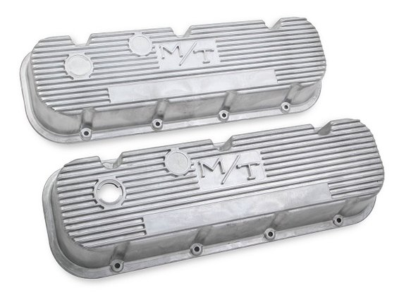 241-87 - M/T Valve Covers for Big Block Chevy Engines – Natural Cast Finish Image