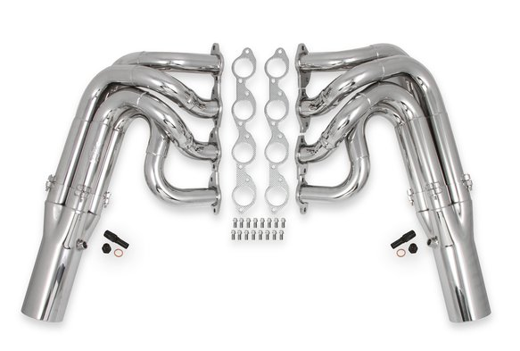 2501-6HKR - Hooker RacingHeart 3-Step Dragster Headers - Chrome Image