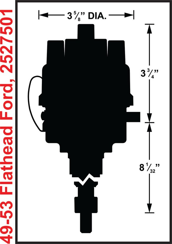 2527501 - Mallory Dual Point, 49-53 Ford Flathead - additional Image