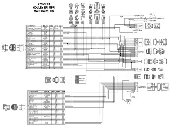 hp efi ecu \u0026 harness kits Holley 600 Diagram