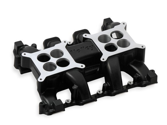 300-133BK - Holley LS Carbureted Manifold 2x4 Dual Plane LS3/L92 - Black Image