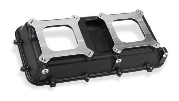 300-216BK - Holley Hi-Ram Manifold Top - 2 X 4150 Carbs Top - Black Image