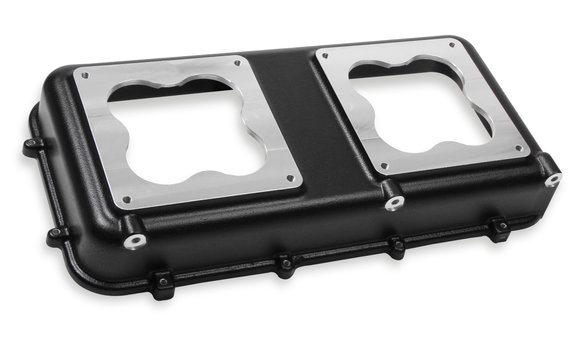 300-223BK - Holley Hi-Ram Manifold Top - 2 X 4500 Carbs Top - Black Image