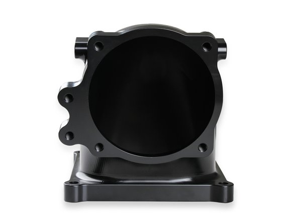 300-254BK - Billet 4500 EFI Throttle Body Intake Elbow-Ford 5.0 to 4500-Black Finish - additional Image