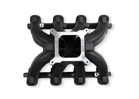 300-256BK - Holley Single Plane Split-Design Race Intake Manifold- GM LS1/LS2/LS6- Black Image