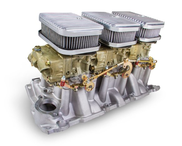 300-521 - Tri-Power 3X2 SBC INTAKE AND DICHROMATE CARBS KIT Image