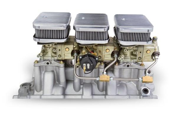 Tri-Power 3X2 SBC INTAKE AND DICHROMATE CARBS KIT