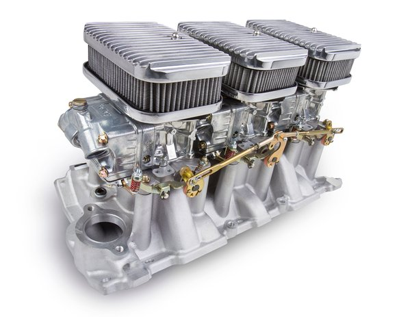 300-522 - Tri-Power 3X2 SBC INTAKE AND SHINY CARBS KIT Image