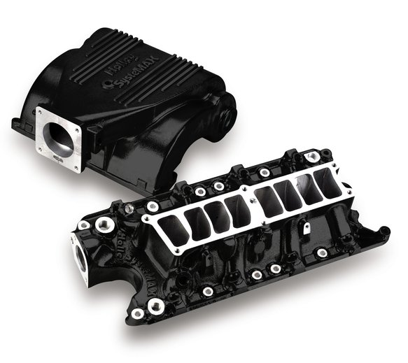 300-72BK - Holley SysteMAX Intake - Ford Small Block V8 - Black Ceramic Coated Image
