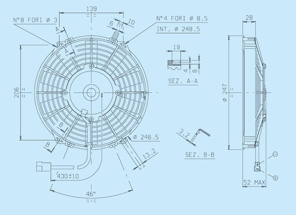 30100392 - SPAL Electric Fan - additional Image