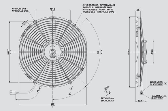 30101510 - SPAL Electric Fan - additional Image