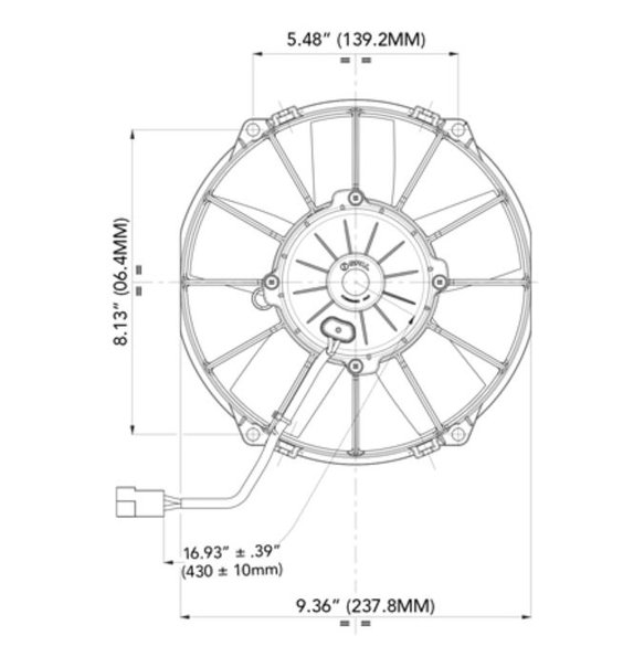 30102053 - SPAL Electric Fan - additional Image