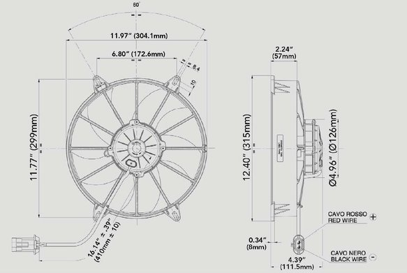 30102800 - SPAL Electric Fan - additional Image