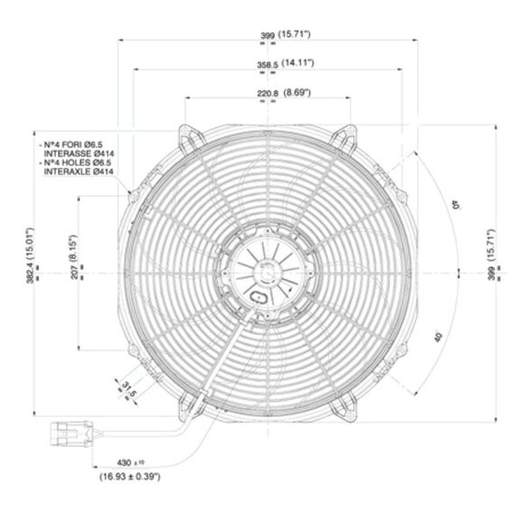30102803 - SPAL Electric Fan - additional Image