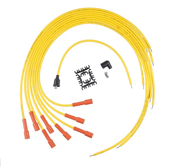 3010ACC - Spark Plug Wire Set - Super Stock Graphite Core 7mm - Universal - Straight Boots - Yellow Image