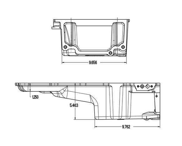 302-2P - GM LS Retro-fit Oil Pan - Polished - additional front clearance - additional Image