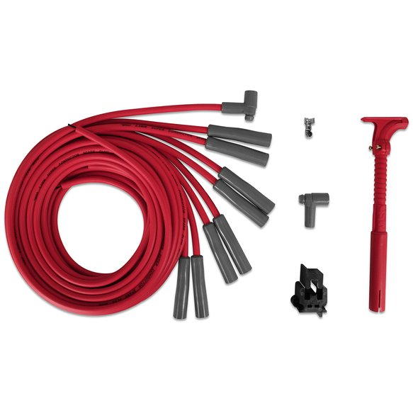 31539 - Super Conductor Spark Plug Wire Set Ford and Chrysler Hemi Pro Stock Head Image