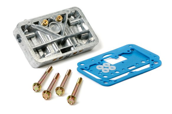 34-13SA - Secondary Metering Block Conversion Kit - Shiny Aluminum Image