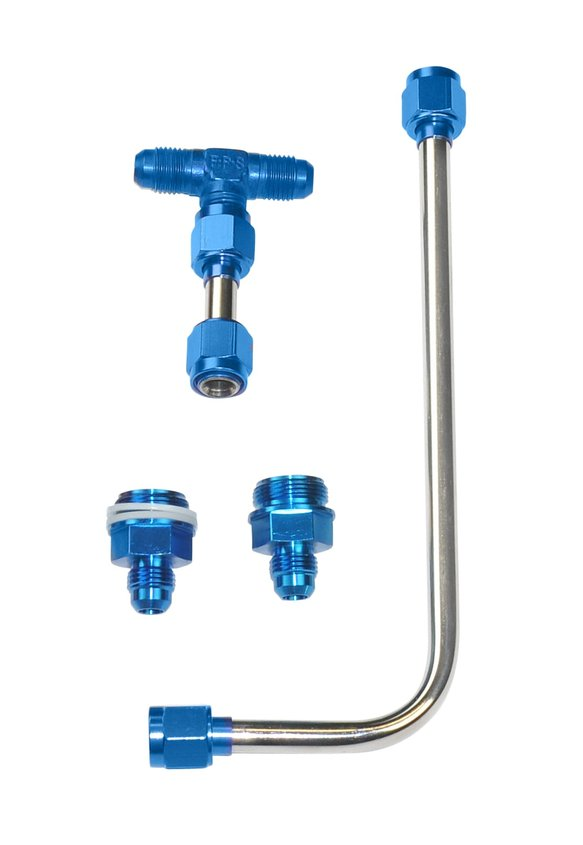 34-600BLQFT - Dual Feed Fuel Line #6AN (Blue) Image