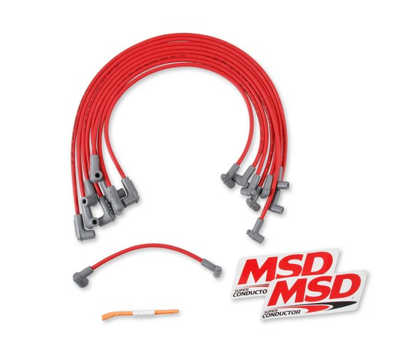 35599 - Super Conductor 8.5mm Spark Plug Wire Set, Small Block Chevy for use with HEI Cap Image