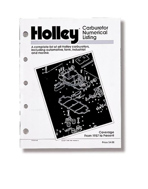 36-168 - Holley Carb, Numerical Listing Image