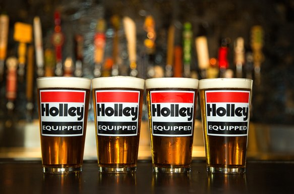 36-432 - Holley Equipped Logo 16oz. Pub Glasses - 4 Pack Image