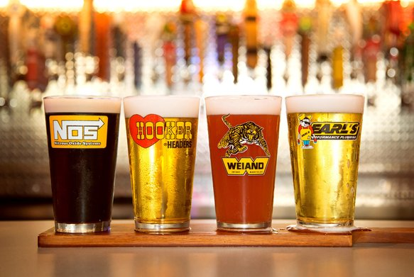 36-441 - HOLLEY 16OZ. LOGO PUB GLASS ASSORTMENT - 4 PACK (SERIES 2) Image