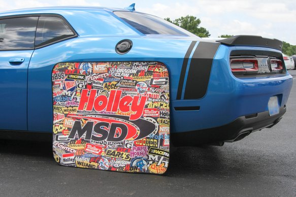 36-446 - Holley/MSD Sticker Bomb Tire Shade - additional Image