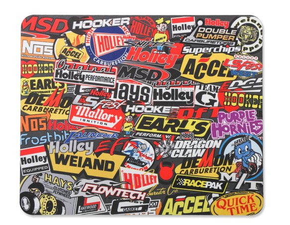 36-447 - Holley MSD Sticker Bomb Style Mouse Pad Image