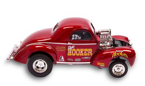 36-463 - Hooker Headers 1941 Willys Gasser 1:18 Diecast Model - additional Image