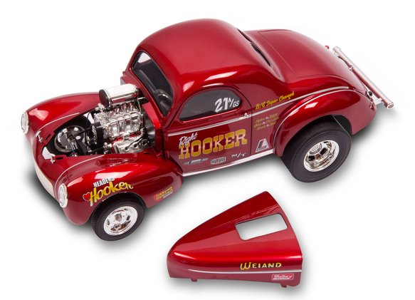 36-463 - Hooker Headers 1941 Willys Gasser Diecast Model Image