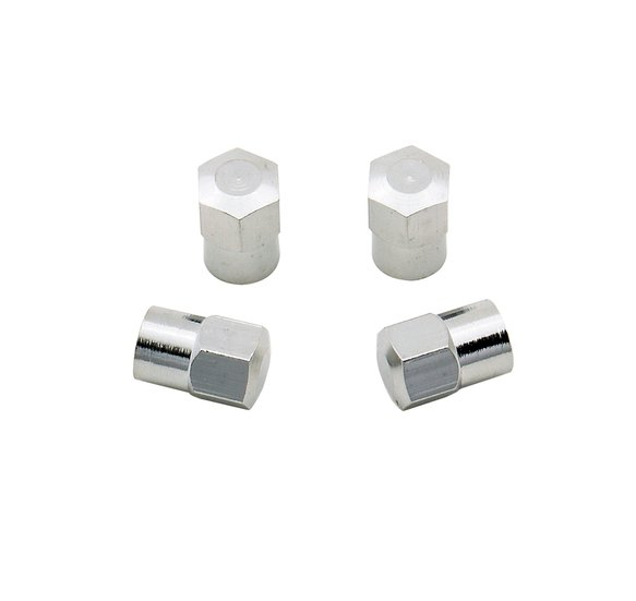 3663 - Valve Stem Caps - Hex Head - Chrome Plated - Package of 4 Image