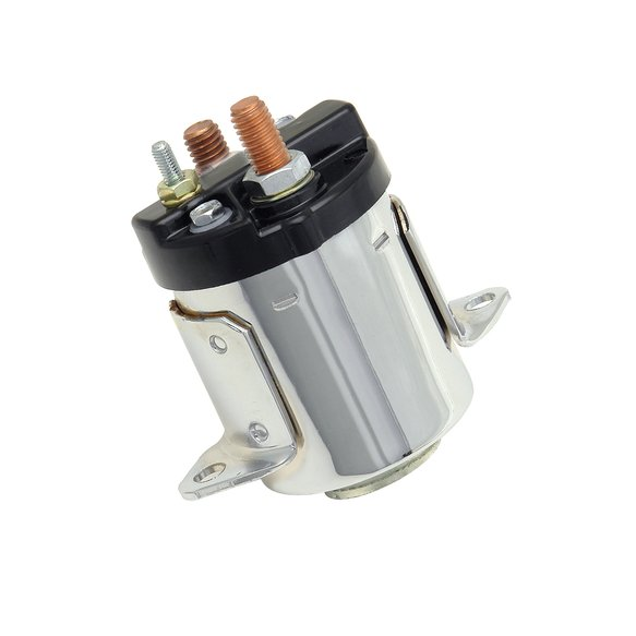 40114C - Starter Solenoid - replaces 31489-79B-Fits 5 speed models from 80-88 - Chrome finish Image
